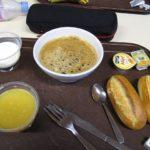 ENSA での朝食